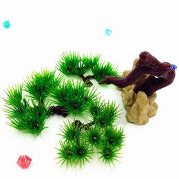 Wholesale Aquarium Pine Tree Decorative Aquarium Plants Styles To Choose Aquarium Plastic Plant Mix Orders High Quality Drop Shipping