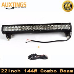 """Wholesale Discounted Led Light Bars - DISCOUNT FREE SHIPPING IP67 22"""" inch 144W WATT led light bar COMBO Beam factory direct sell 24 inch led light bar offroad car"""