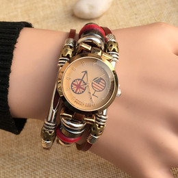 Wholesale Casual Dress Stores - 2017 TSH Leather watches store Ladies Dress Watches Fashion Leather Retro Student Bracelet Casual Women's Wristwatch