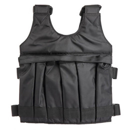 Wholesale Weight Vests - 5okg 20kg Max Loading Weighted Vest Adjustable Boxing Training Waistcoat Jacket Exercise Boxing Training Waistcoat Invisible Weightloading