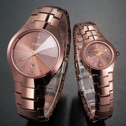 Wholesale Tungsten Steel Watch Dom - Wholesale-DOM Casual Quartz Watch Tungsten Steel Lovers Watch Men Brand Luxury Women Watch Waterproof Quartz Wristwatch Relojes Hombre