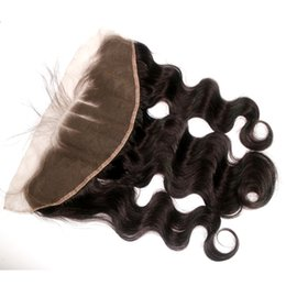"""Wholesale Cambodian Baby Hair - cambodian Human Hair Lace Frontal Unprocessed 8-20inch Body Wave Baby Hair 13""""x4"""" Cambodian Hair Lace Frontal Dyeable"""
