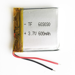 Wholesale Headphone Rechargeable - 3.7V 600mAh Lithium Polymer Rechargeable Battery LiPo cells power For Mp3 MP4 headphone DVD GPS mobile phone Camera psp Toys 603030