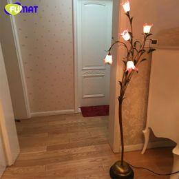 Wholesale Floor Shade - FUMAT Glass Floor Lamp Creative Living Room Bed Room Lily Shade Floor Lamp Vintage Glass Shade Art Decor LED Stand Floor Lamp
