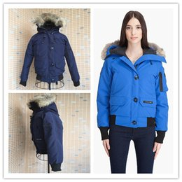 Wholesale Genuine Leather Parka - 2017 hot sale Women's CHILLIWACK PARKA goose down jacket Coat Fu Winter thick cotton padded jacket cotton women jacket white collar cap