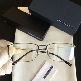 Wholesale titanium alloy eyeglasses frame - LINDBERG STRIP EYEGLASSES FRAMES IN POLISHED SILVER TITANIUM New with Box