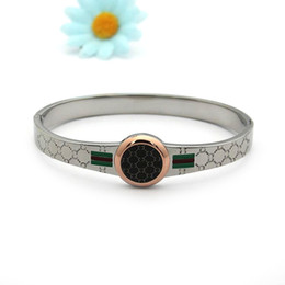 Wholesale Price G - Direct factory price high quality round engraved G word bracelet 18K rose gold flag red and green drip oil lady bracelet men's bracelet