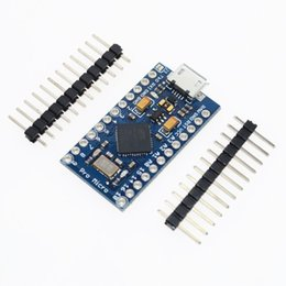 Wholesale Arduino Pin Header - Wholesale- 5pcs lot New Pro Micro for arduino ATmega32U4 5V 16MHz Module with 2 row pin header For Leonardo in stock . best quality