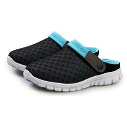 Wholesale W C Cover - Wholesale-Brand Fashion Men Women sandals 2016 Summer New Mesh Breathable Slip-on flats Shoes Unisex Couples Beach sandals men