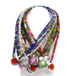 Wholesale Christmas Directions - 6 PCS classic torque mixed color 18 mm snap button necklace Bohemian necklace and pendant unisex DIY jewelry in one direction