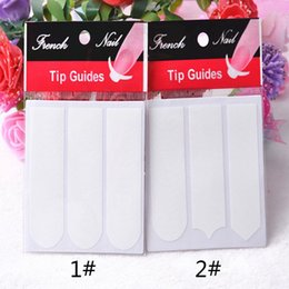 Wholesale Guides Tips - French Manicure Smile Tip Guides Pedicure DIY Nail Art Stickers Brand Women Makeup Tools For Nail Art