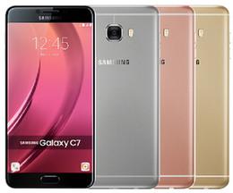 5.7 telefono di androide octa nucleo online-Telefono cellulare sbloccato originale Samsung Galaxy C7 C7000 sbloccato 32 GB / 64 GB 16MP 5.7 pollici Dual Sim Android 6.0