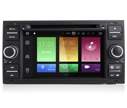 """Wholesale Dvd Player For Ford Fiesta - 7"""" Android 6.0 System Double Din Car DVD GPS For Ford Focus Mondeo Fiesta Connector Kuga Fusion Transit Radio 2G RAM 32G ROM Octa Core 4G"""