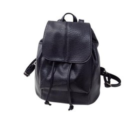 Wholesale College Korean Backpack - Wholesale- 2017 Summer New College Wind Schoolbag Washed Leather Backpack Woman Korean Tidal Hotsale Leisure Travel Bag Boutique Backpacks