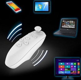 Wholesale Joystick Mouse Wireless - Universal Bluetooth Remote Controller Wireless Mini Joystick Gamepad Mouse For iPhone 5S 6 7 Samsung IOS Android 3D VR BOX Games