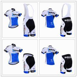 vetement velo bleu femme Promotion Bleu Blanc Vélo Maillots D'été Style Cuissard Ensemble Pour Hommes Femmes Lycra Compressé Respirant Séchage Rapide Vêtements De Vélo