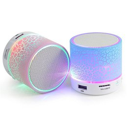 Wholesale Portable Speakers For Android Phones - Bluetooth Speaker Wireless Speaker LED A9 Subwoofer Stereo HiFi Player for IOS Android Phone