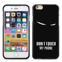 Wholesale Case For Iphone Funny - For iphone 7 plus 6s plus Soft TPU black Case dont touch my phone Painting protector funny silicon Cell Phone Cases