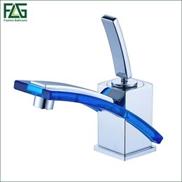 Wholesale Bathroom Glass Basin Vanity - FLG Wholesale And Retail Free Shipping Long Spout Bathroom Basin Faucet Cold Hot Chrome Brass Glass Vanity Sink Mixer Tap 249-11