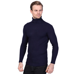 Wholesale Cheap Long Sleeve Pullover Sweater - YH-004New Fashion Turtleneck Sweaters Men Solid Long Sleeve Pullovers Men Sweater Knitted High Elastic Cheap Autumn Winter Sweaters YH-004