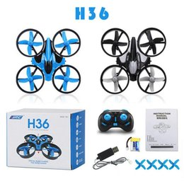 Wholesale Mini Toys Plastic Kids - H36 Mini Drone 2.4GHz 6 Axis RC Micro Quadcopters With Headless Mode Drones Flying Helicopter For Kid Gift KKA1950