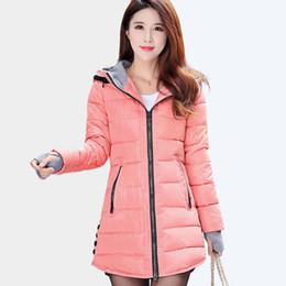 Wholesale Warm Ladies Hooded Parka Coat - Thick Warm Winter Jacket Women 2017 Hooded Parkas Women's Winter Jacket Coat Female Cotton Jacket Ladies Quilted Coat