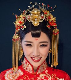 Wholesale Chinese Wedding Hair Accessories - Beautiful Chinese bridal crown headdress classic wedding accessories MT001