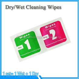 Wholesale Lens Paper Wholesale - Phone Screen Glass Camera Lens Dust Removal Tool Dry Wet Cleaning Wipes Paper Set for iPhone 8 for Samsung