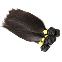 Wholesale Wholesale Virgin Hair Mixed Lenght - 8A 5pcs lot Mix Lenght 100% Peruvian Virgin Hair Human Hair Weft High Quality HairExtensions Natural Color Silky Straight DHL Shipping