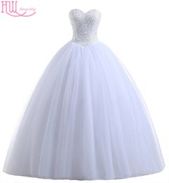 Wholesale Cheap Wedding Corsets Plus Size - Real Photo Cheap Wedding Dresses Princess In Stock Corset Sequins Beaded Pleated Tulle Plus Size Lace Up Ball Gown Wedding Gowns