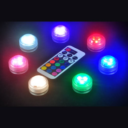 Wholesale Led Lights Battery For Flower - Waterproof LED lights with remote control for glass bongs oil rigs hookah and battery shisha water pipe and fish tank flower vase lamps