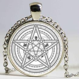 Hecho a mano Magic Circle Space Moon Star Ouija Wicca Gypsy Pentagram Bruja Anime Steampunk Collar Llamativo Mejor regalo de Navidad desde fabricantes