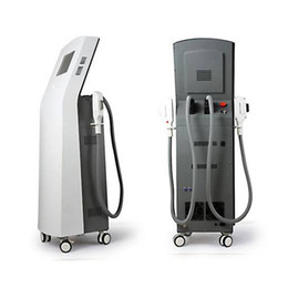 Wholesale Equipment Ipl Hair Removal Machine - Professional vertical 2 handpieces IPL SHR hair removal machine photon depilation skin rejuvenation beauty equipment CE