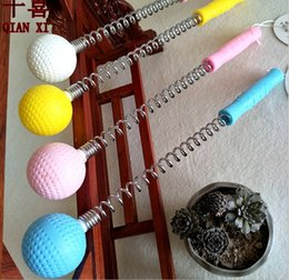 Wholesale Wholesale Plastic Hammers - 2017 New Arrival Golf massage health spring hammer multifunctional massage ball plastic body ABS handle free shipping