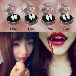 Wholesale Devil Dresses Halloween - Hot Sale Horrific Fun Clown Dress Vampire Teeth Halloween Party Dentures Props Zombie Devil Fangs Tooth With Dental Gum 4 Sizes