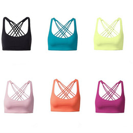 Wholesale Comfort Yoga - Women's Sports yoga bra top Comfort Fitness Byoga bra racerback yoga bras top for ladies ouc451