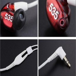 Wholesale Perfect Phones - High Quality SE 535 Headsets in-ear Earphones 3.5mm For Cell Phone With Retail Box hifi Perfect se535 Noise Canceling