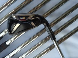 Wholesale shaft head - M2 Irons Golf Iron Set Golf Clubs 4-9PS(8PCS) Regular or Stiff Flex Steel Shaft With Head Cover