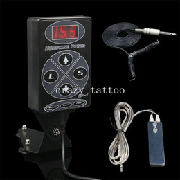 Wholesale Hurricane Power Supply Foot - Wholesale-2016 New Tattoo Kits 1Set Black Dual LCD Hurricane HP-1 Tattoo Power Supply With 1PCS Clip Cord & 1PCS Foot Pedal Free Shipping