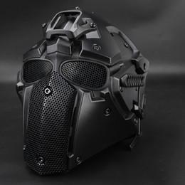 2019 casco protector táctico Al por mayor- Paintball Tactical Helmet casco protector CS equipo accesorio de caza casco protector táctico baratos