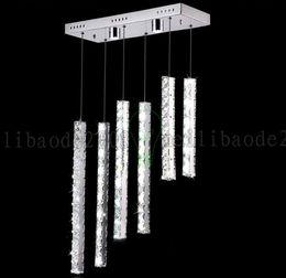 Wholesale Long Led Bar - BE47 Creative Fashion Long Strip Stainless Steel LED Restaurant Living Room Chandelier KTV Bar Counter Pendant Lamps Lights Lighting