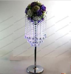 Wholesale Wedding Flower Vase Centerpiece - Crystal wedding decoration flower vase wedding table centerpiece beaded wedding supply MYY