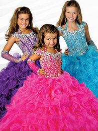 Wholesale Black White Dance Floor - Sell like hot cakes!Girl Flower Pageant Dresses Kids Formal Party Ball Gown Prom Bridesmaid Dance