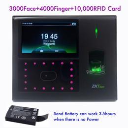 Cartão on-line-Navio DHL 3000 Face Capacidade Controlador de Acesso Porta Aberta Tecnologia Biométrica Facial ID card Impressão digital para fazer atendimento ZKTeco iface660
