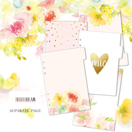 Wholesale Wholesale Filler Paper - Wholesale- Lovedoki Hello Dream Dividers A5 A6 Inner Page for Dokibook Notebook Planner Accessories Filler Papers Match Filofax 5pcs in Set