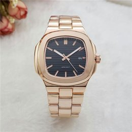 Wholesale Mens Watches Date Waterproof - New Mens watches Automatic Date Stainless Steel band Luxury Fashion Watch Top Brand Quartz Wristwatches Waterproof Clock Relojes for men