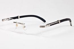 Wholesale Plastic Sports Horn - Square frameless buffalo horn wooden lens Fashion Sunglasses For Men and Women Brand designer Vintage Sport Sun glasses With 11 color