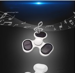 Wholesale Mp3 Micro Sd Cards - Newest LED Fidget Spinners Bluetooth Music Hand Spinner MP3 Player Spinner Support Micro SD TF Card For ADD, ADHD Finger Toys