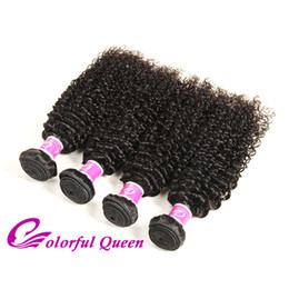 Wholesale Colorful Curly Natural Hair - Colorful Queen Malaysian Curly Hair Afro Kinky Curly Hair Weaves 4 Bundles Unprocessed Malaysian Kinky Curly Virgin Human Hair Extensions