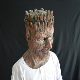Wholesale Full Christmas Tree - Halloween horror tree demon mask head sets masquerade dance thriller party guards props latex mask dh12